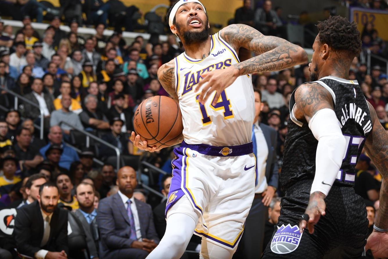 Brandon Ingram, Los Angeles Lakers vs Sacramento Kings at Staples Center