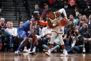 D'Angelo Russell (Nets) marcato da Tim Hardaway Jr. (Knicks)