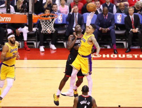 mamba-mentality-Kyle Kuzma, Los Angeles Lakers vs Houston Rockets at Toyota Center