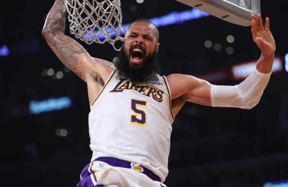 Tyson Chandler, Los Angeles Lakers vs Sacramento Kings at Staples Center