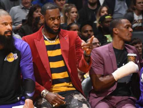 Tyson Chandler, LeBron James and Rajon Rondo. Los Angeles Lakers vs Sacramento Kings at Staples Center