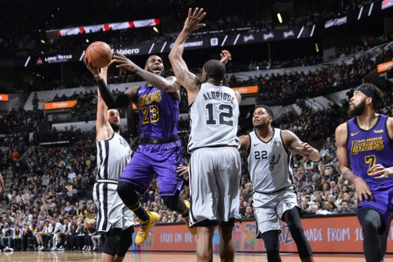 LeBron James, Los Angeles Lakers vs San Antonio Spurs, at AT&T Center