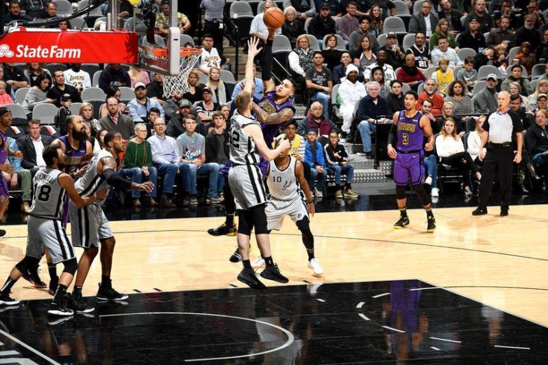 Kyle Kuzma, Los Angeles Lakers vs San Antonio Spurs, at AT&T Center