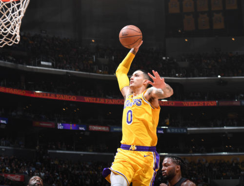 Kyle Kuzma, Los Angeles Lakers vs Miami Heat at Staples Center