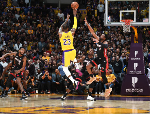 LeBron James and Dwyane Wade, Los Angeles Lakers vs Miami Heat at Staples Center