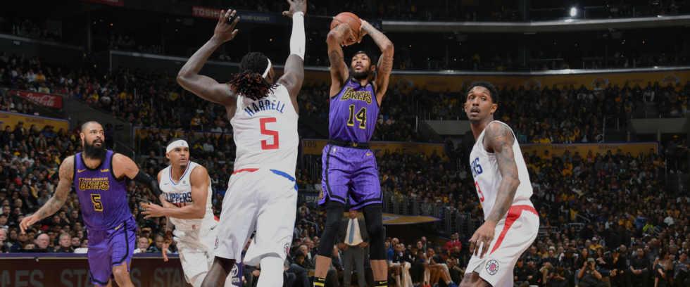 Brandon Ingram, Los Angeles Lakers vs LA Clippers at Staples Center