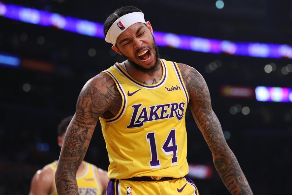 Brandon Ingram, Los Angeles Lakers vs Philadelphia 76ers at Staples Center