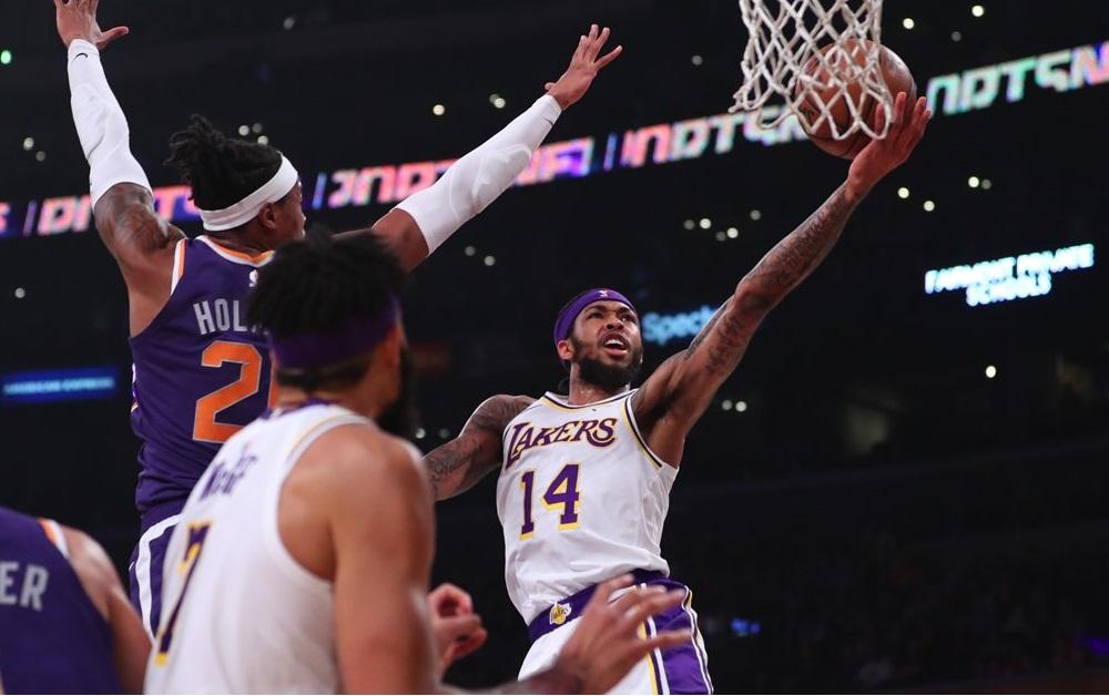 Brandon Ingram, Los Angeles Lakers vs Phoenix Suns at Staples Center
