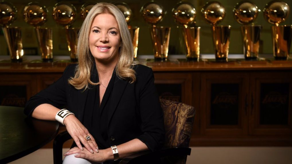Jeanie Buss, owner and president of the Los Angeles Lakers
