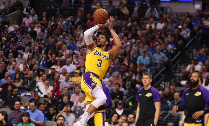 Josh Hart, Los Angeles Lakers vs Dallas Mavericks at American Airlines Center