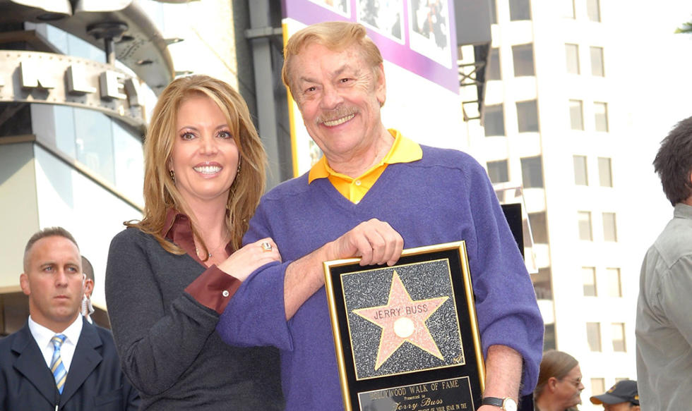 Jeannie Buss and Dr. Jerry Buss, owner of the Los Angeles Lakers