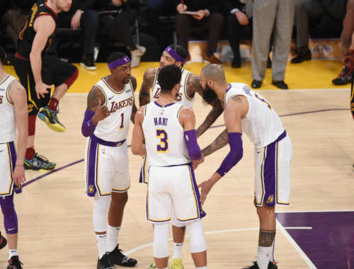 The Los Angeles Lakers, Los Angeles Lakers vs Cleveland Cavaliers at Staples Center