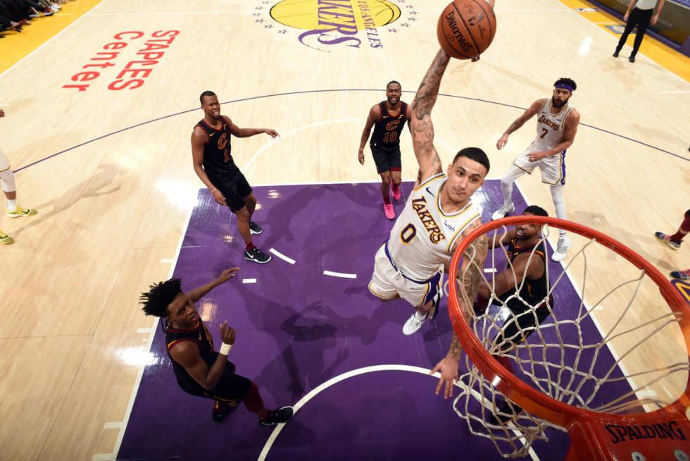Kyle Kuzma, Los Angeles Lakers vs Cleveland Cavaliers at Staples Center