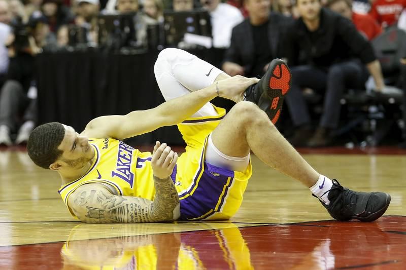 Lonzo Ball, Los Angeles Lakers vs Houston Rockets at Toyota Center