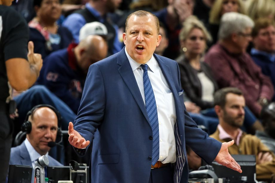 Coach Tom Thibodeau, Los Angeles Lakers vs Minnesota Timberwolves at Target Center