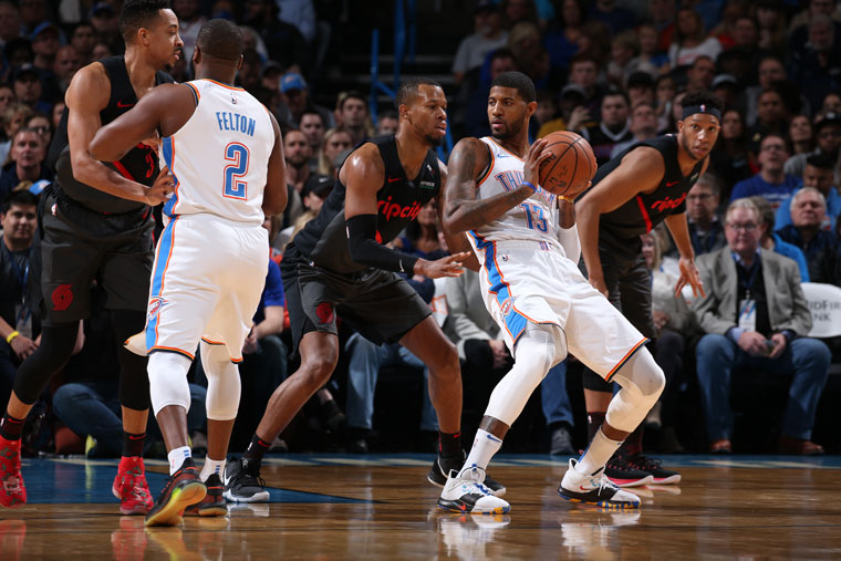 Trail Blazers-Thunder streaming