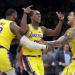 Los Angeles Lakers tanking-LA Lakers-Rajon Rondo, LeBron James and Kyle Kuzma, Los Angeles Lakers vs Boston Celtics at TD Garden