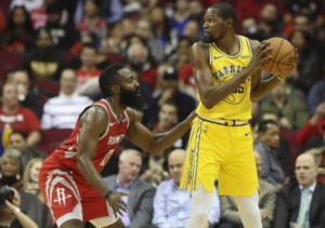 James Harden e Kevin Durant mentre rovinano la NBA