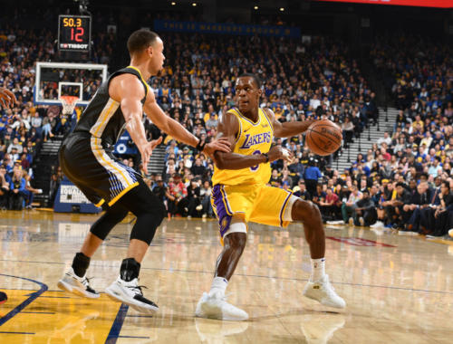 Rajon Rondo, Los Angeles Lakers vs Golden State at Oracle Arena