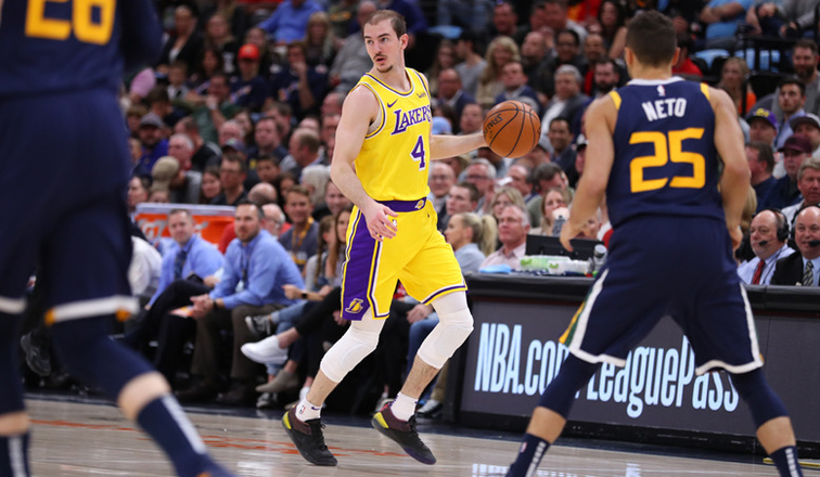 Alex Caruso, Los Angeles Lakers vs Utah Jazz at Vivint Smart Home Arena