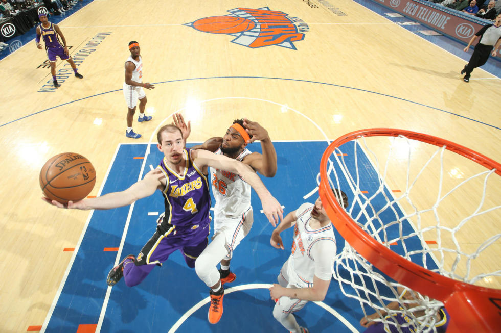 Alex Caruso, Los Angeles Lakers vs New York Knicks at Madison Square Garden