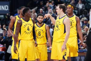 Ottima stagione per gli Indiana Pacers, nonostante l'infortunio di Victor Oladipo (#4)