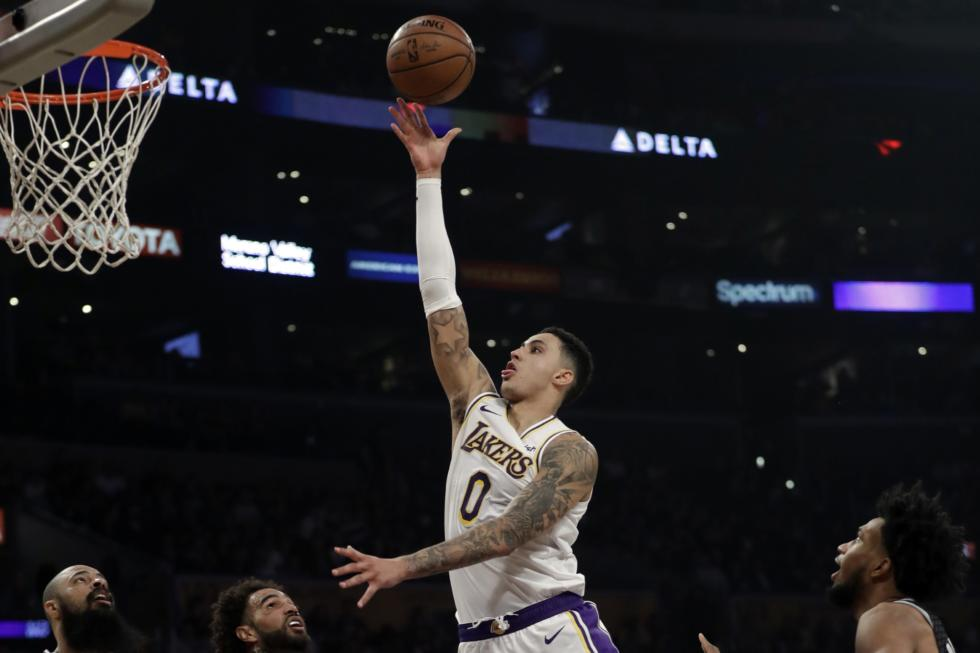 Kyle Kuzma, Los Angeles Lakers vs Sacramento Kings at Staples Center
