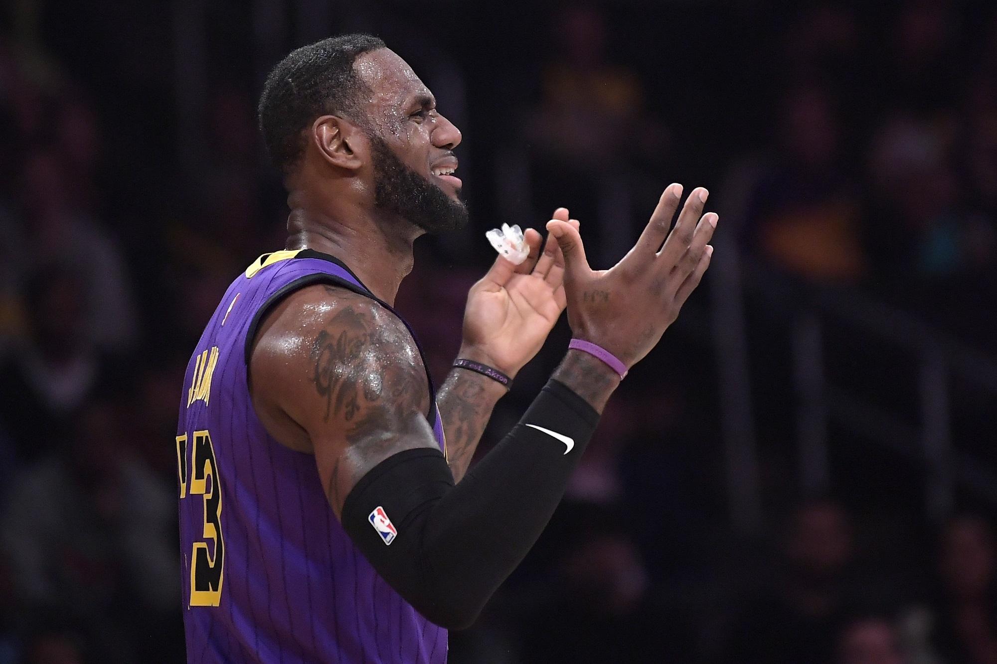 LeBron James, Los Angeles Lakers vs Brooklyn Nets at Staples Center (Mark J. Terrill, AP Photo)