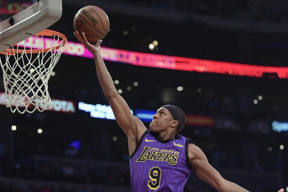 Rajon Rondo, Los Angeles Lakers vs Charlotte Hornets at Staples Center (Mark J. Terrill, AP Photo)