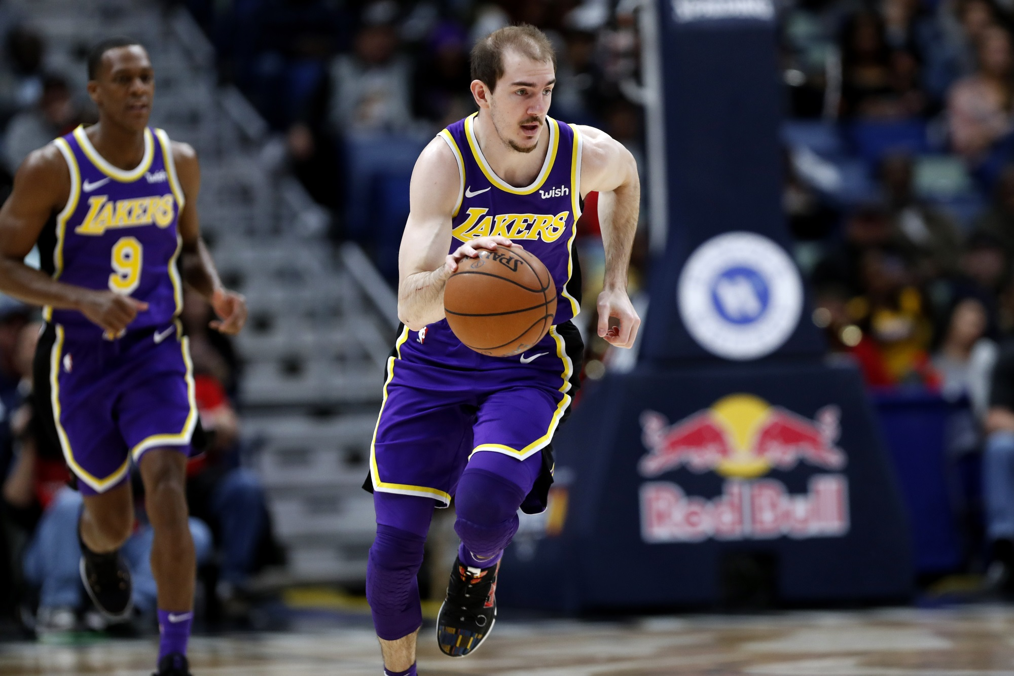 Alex Caruso, Los Angeles Lakers vs New Orleans Pelicans at Smoothie King Center