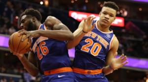 Mitchell Robinson (a sinistra) e Kevin Knox, i due rookie dei Knicks versione 2018/19