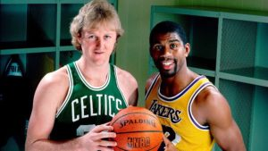 Larry Bird e Magic Johnson, entrambi scelti al draft 1979