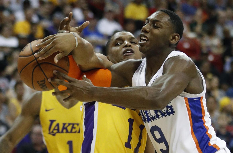 Zach Norvell Jr. and R.J. Barrett, New York Knicks vs Los Angeles Lakers