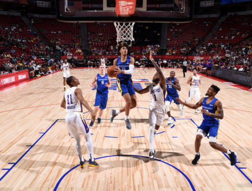 2019 Las Vegas Summer League - Golden State Warriors vs Los Angeles Lakers at the Thomas & Mack Center in Las Vegas