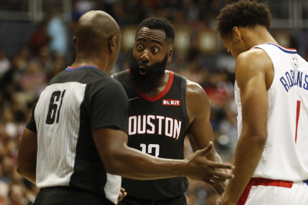 Harden rockets clippers