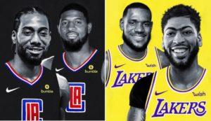 I Clippers di Kawhi Leonard e Paul George e i Lakers di LeBron James e Anthony Davis sembrano i principali favoriti al titolo NBA 2019/20