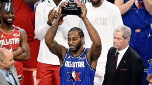 Kawhi Leonard, MVP dell' All-Star Game 2020