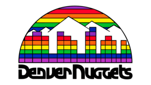 Il logo usato dai Denver Nuggets dal 1982 al 1993